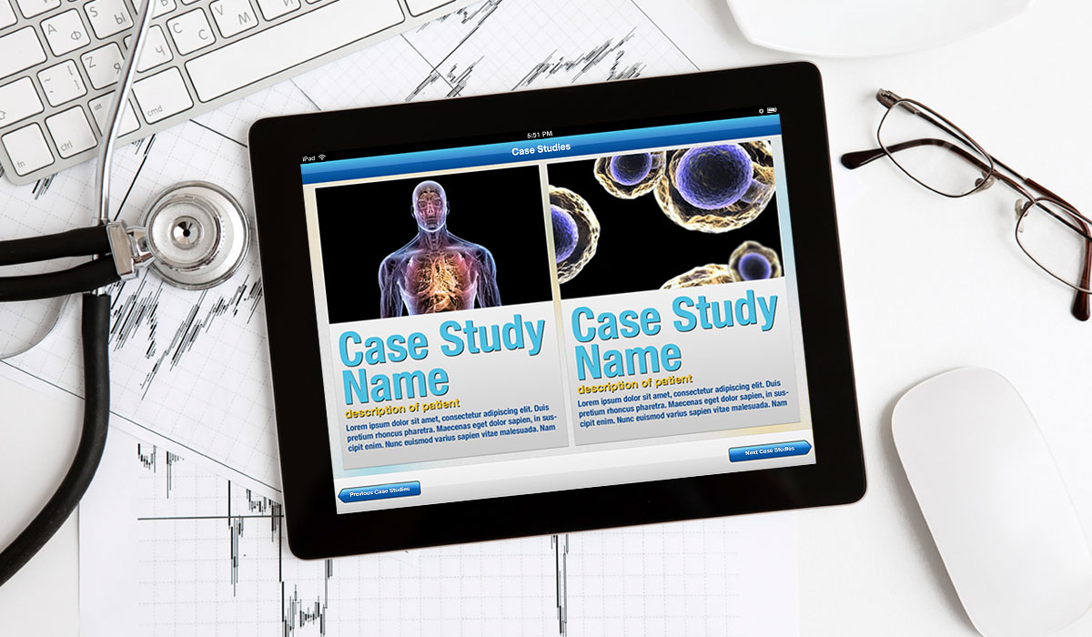 Interactive patient case study in ios on ipad